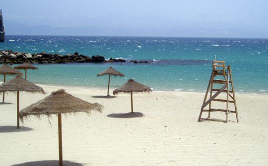 La ventosa spiaggia di Tarifa
